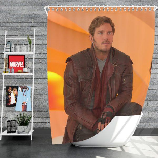 Guardians of the Galaxy Vol 2 Movie Chris Pratt Star Lord Shower Curtain