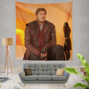 Guardians of the Galaxy Vol 2 Movie Chris Pratt Star Lord Wall Hanging Tapestry