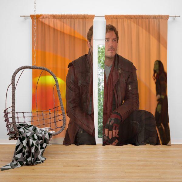 Guardians of the Galaxy Vol 2 Movie Chris Pratt Star Lord Window Curtain