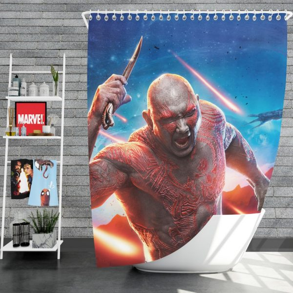 Guardians of the Galaxy Vol 2 Movie Drax The Destroyer Shower Curtain