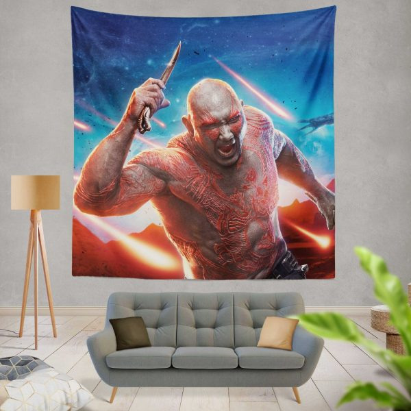 Guardians of the Galaxy Vol 2 Movie Drax The Destroyer Wall Hanging Tapestry