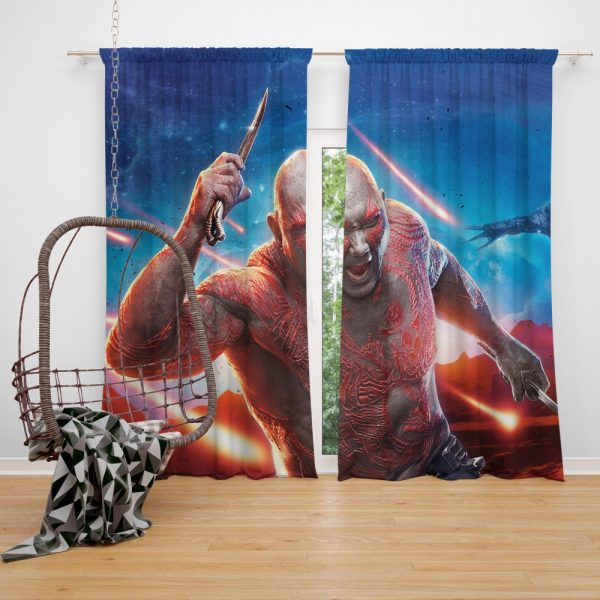 Guardians of the Galaxy Vol 2 Movie Drax The Destroyer Window Curtain