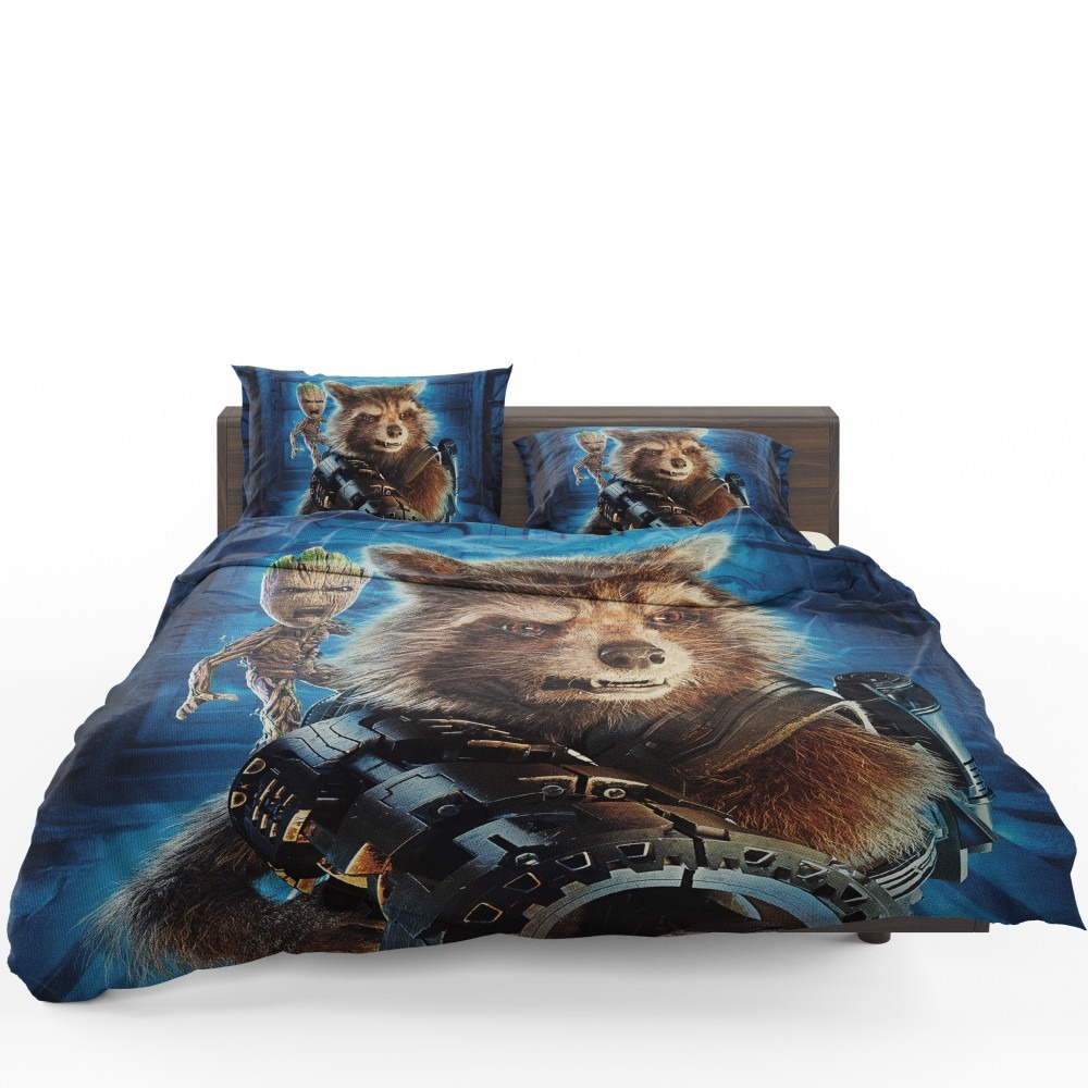 Guardians of the Galaxy Vol 2 Movie Groot Marvel Comics Rocket Raccoon  Bedding Set