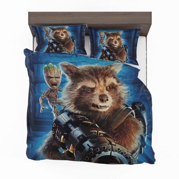 Guardians of the Galaxy Vol 2 Movie Groot Marvel Comics Rocket Raccoon Bedding Set 2