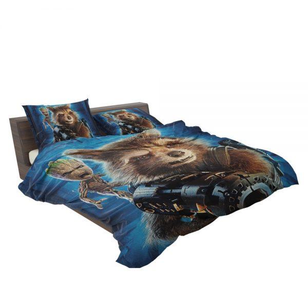 Guardians of the Galaxy Vol 2 Movie Groot Marvel Comics Rocket Raccoon Bedding Set 3