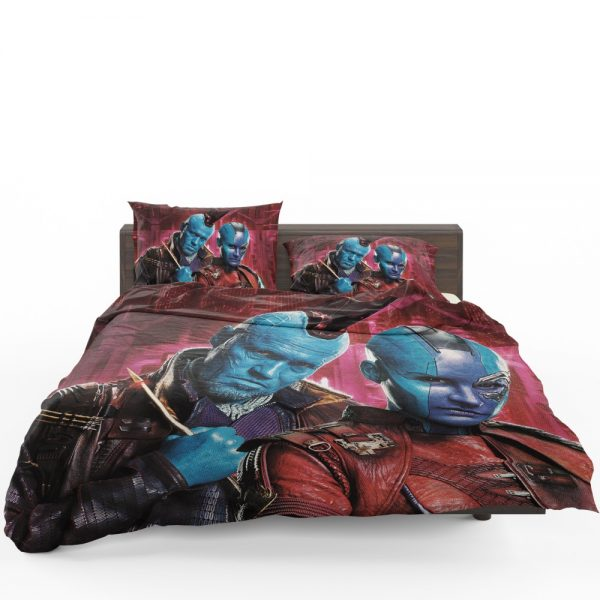 Guardians of the Galaxy Vol 2 Movie Karen Gillan Michael Rooker Nebula Marvel Comics Yondu Udonta Bedding Set 1