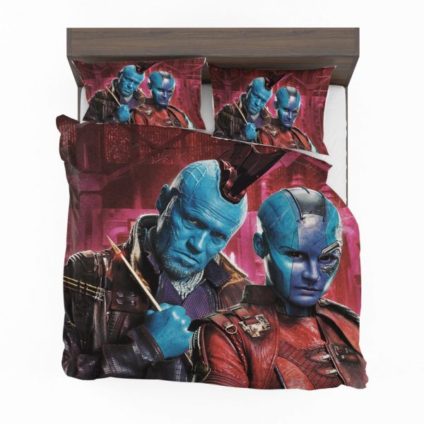 Guardians of the Galaxy Vol 2 Movie Karen Gillan Michael Rooker Nebula Marvel Comics Yondu Udonta Bedding Set 2