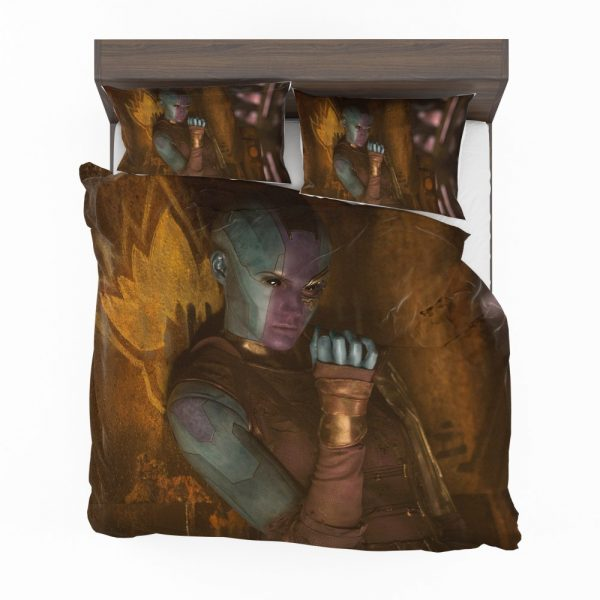 Guardians of the Galaxy Vol 2 Movie Karen Gillan Nebula Marvel Comics Bedding Set 2