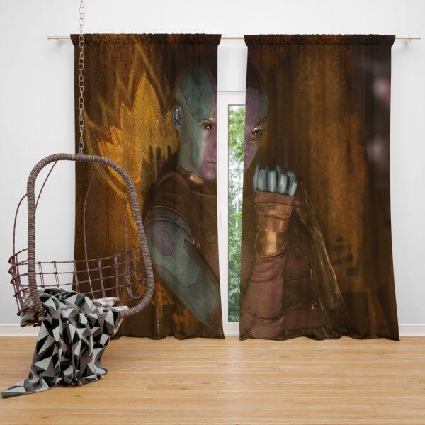 Guardians of the Galaxy Vol 2 Movie Karen Gillan Nebula Marvel Comics Window Curtain