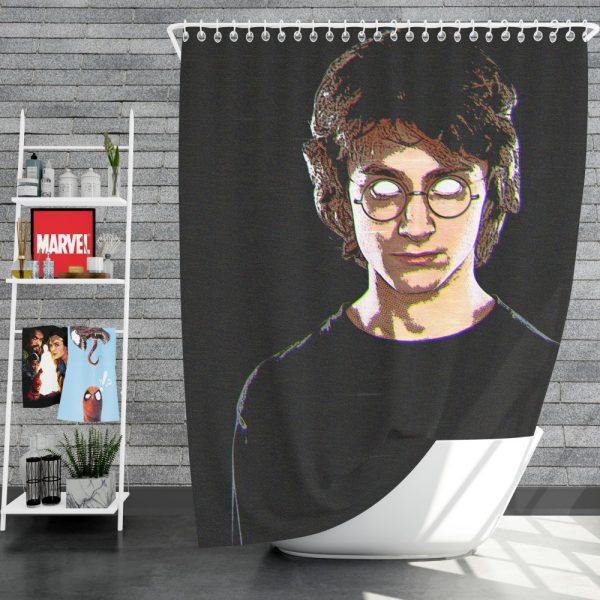 Harry Potter Movie Glitch Art Shower Curtain