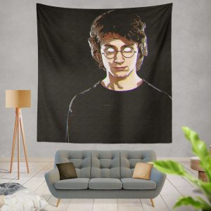 Harry Potter Movie Glitch Art Wall Hanging Tapestry