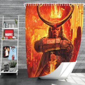 Hellboy 2019 Movie American Supernatural Superhero Shower Curtain