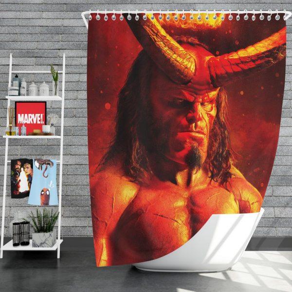 Hellboy 2019 Movie David Harbour Shower Curtain