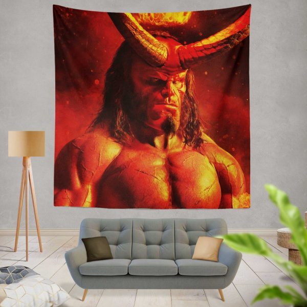 Hellboy 2019 Movie David Harbour Wall Hanging Tapestry