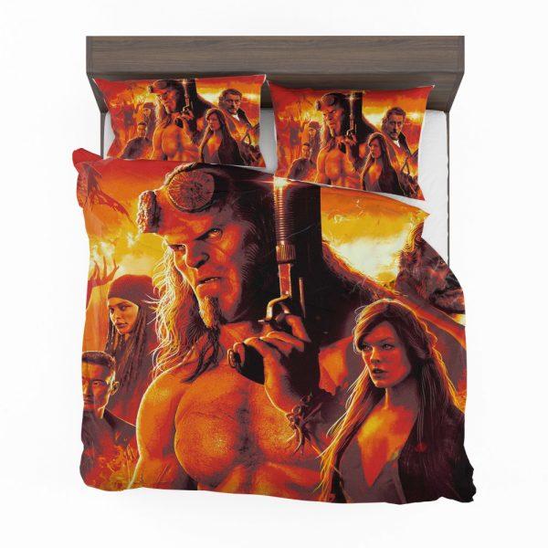Hellboy 2019 Movie Milla Jovovich David Harbour Ian McShane Bedding Set 2