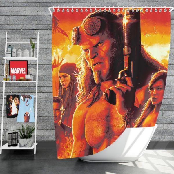 Hellboy 2019 Movie Milla Jovovich David Harbour Ian McShane Shower Curtain
