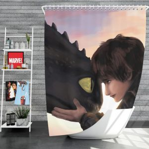 How To Train Your Dragon Movie Hiccup Toothless Shower Curtain