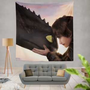 How To Train Your Dragon Movie Hiccup Toothless Wall Hanging Tapestry