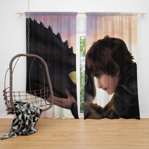 How To Train Your Dragon Movie Hiccup Toothless Window Curtain