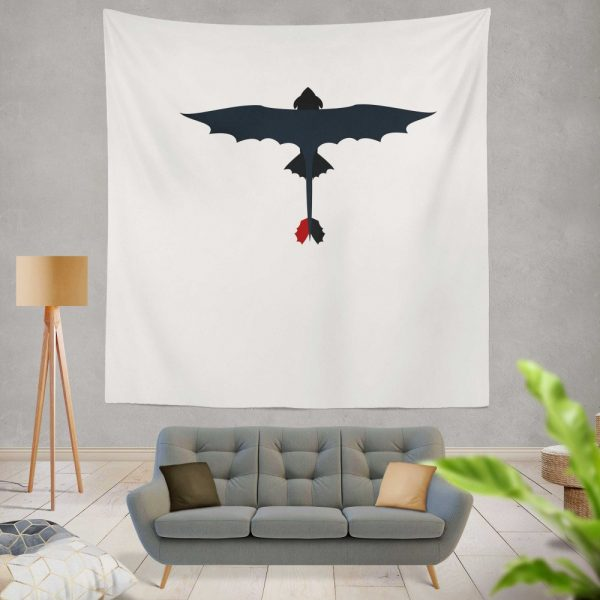 How To Train Your Dragon Movie Toothless Wall Hanging Tapestry