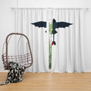 How To Train Your Dragon Movie Toothless Window Curtain