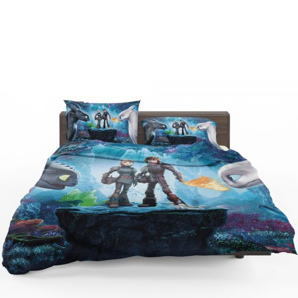 How to Train Your Dragon The Hidden World Movie Astrid Hiccup Toothless White Night Fury Bedding Set 1