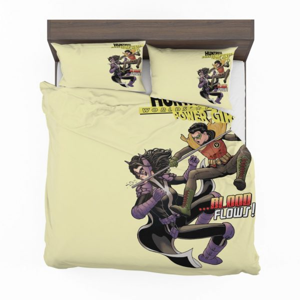 Huntress Worlds Finest Robin DC Comics Bedding Set 2