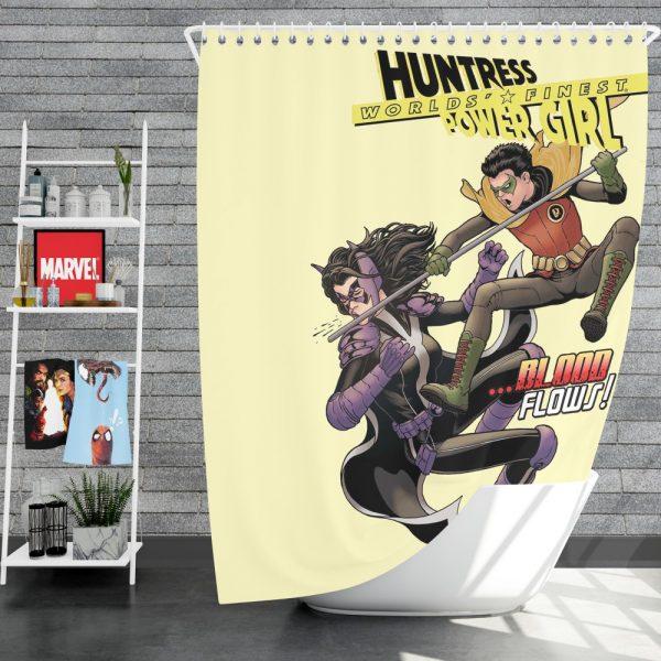 Huntress Worlds Finest Robin DC Comics Shower Curtain