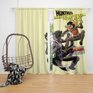 Huntress Worlds Finest Robin DC Comics Window Curtain