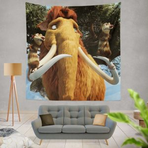 Ice Age Dawn of the Dinosaurs Movie Wall Hanging Tapestry