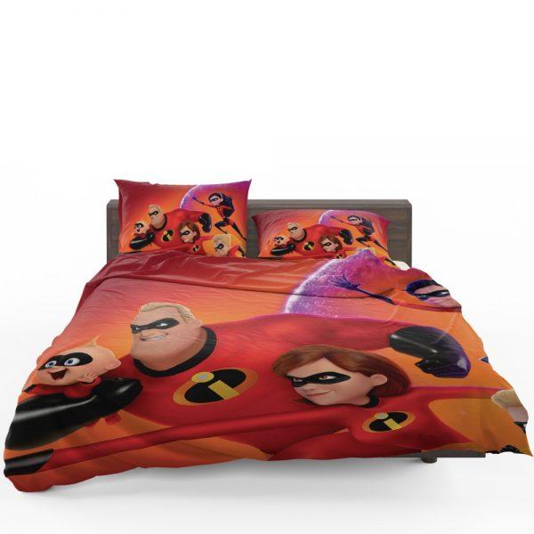 Incredibles 2 Movie Dash Parr Elastigirl Jack-Jack Parr Mr Incredible Bedding Set 1