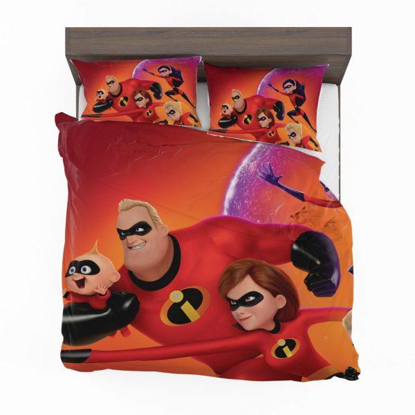 Incredibles 2 Movie Dash Parr Elastigirl Jack-Jack Parr Mr Incredible Bedding Set 2