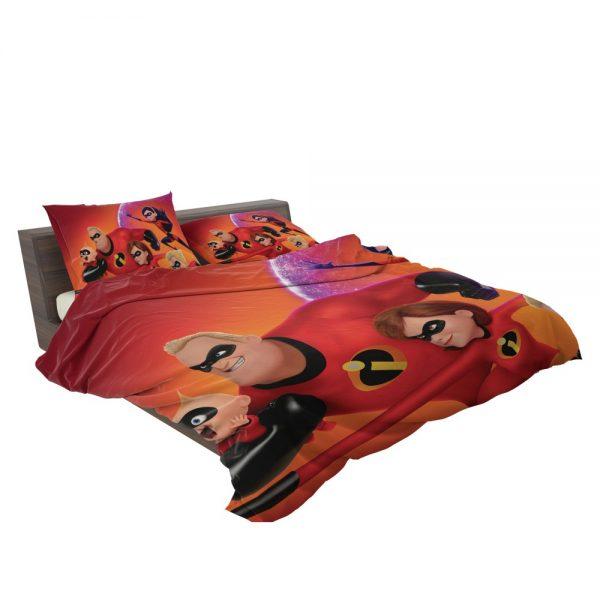 Incredibles 2 Movie Dash Parr Elastigirl Jack-Jack Parr Mr Incredible Bedding Set 3