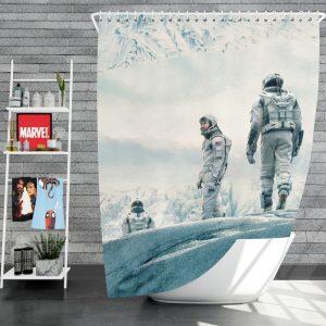 Interstellar Movie Cooper in Mann Planet Shower Curtain