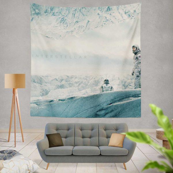 Interstellar Movie Cooper in Mann Planet Wall Hanging Tapestry