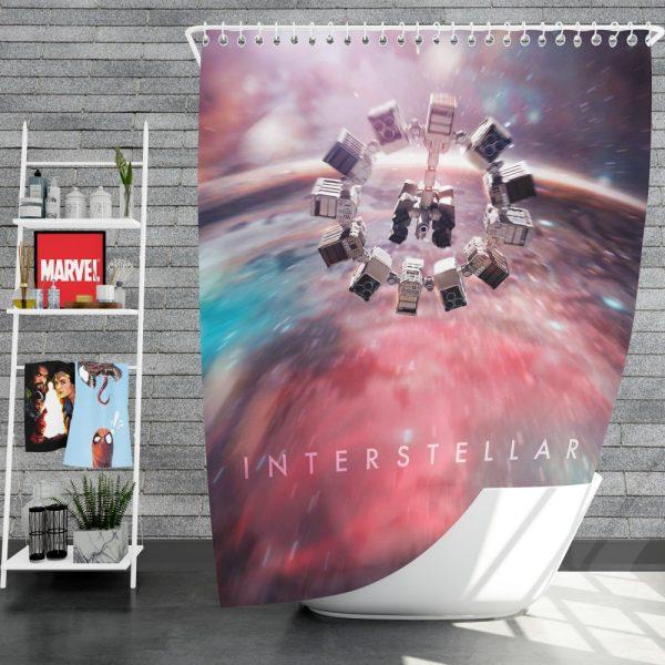 Interstellar Movie Space Shower Curtain