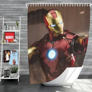 Iron Man 2 Movie Figurine Shower Curtain