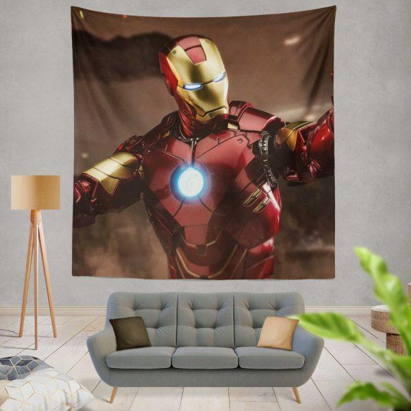 Iron Man 2 Movie Figurine Wall Hanging Tapestry