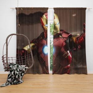 Iron Man 2 Movie Figurine Window Curtain