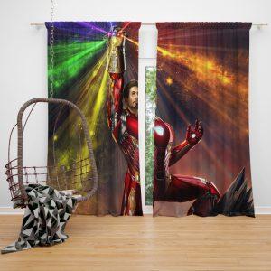 Iron Man Infinity Gauntlet Tony Stark Avengers Endgame Movie Window Curtain