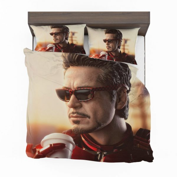 Iron Man Movie Figurine Robert Downey Jr Bedding Set 2