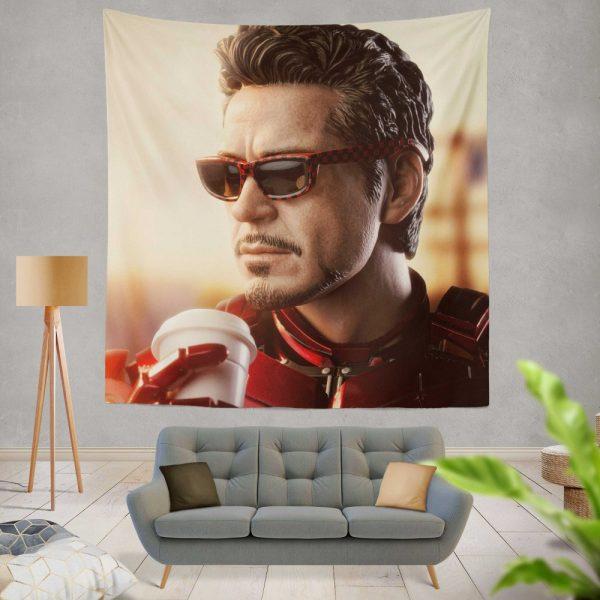Iron Man Movie Figurine Robert Downey Jr Wall Hanging Tapestry
