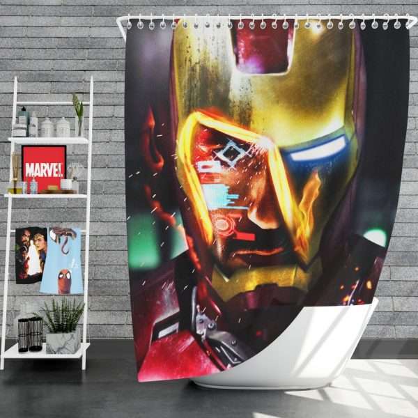 Iron Man Movie Marvel End game Shower Curtain