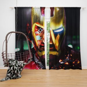 Iron Man Movie Marvel End game Window Curtain