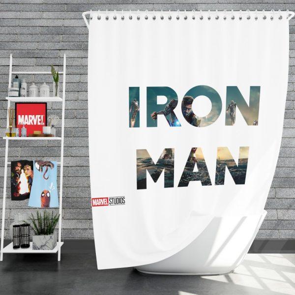Iron Man Movie Shower Curtain