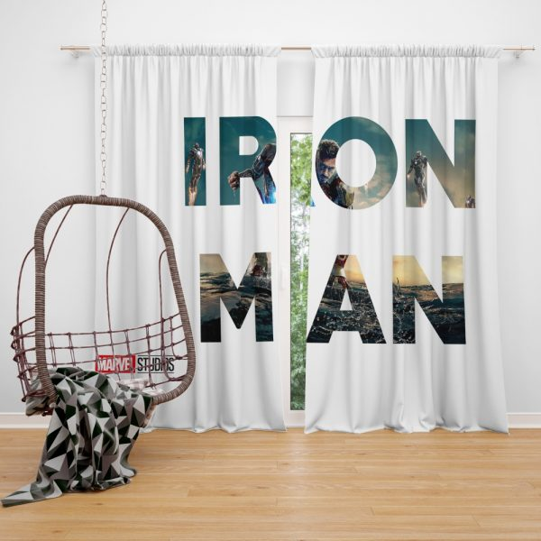 Iron Man Movie Window Curtain