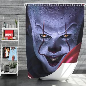 It 2017 Movie Creepy Pennywise Shower Curtain