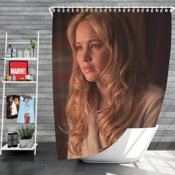 Jennifer Lawrence X-Men First Class Movie Shower Curtain