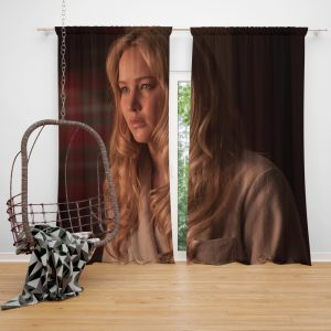 Jennifer Lawrence X-Men First Class Movie Window Curtain