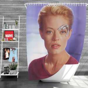 Jeri Ryan in Star Trek Voyager TV Show Shower Curtain